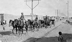 Scene in Baku of transport on the way to the front (Ariel Varges).jpg