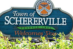 Skyline of Town of Schererville, Indiana