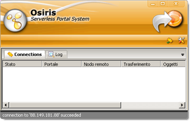 Screenshot di Osiris (Serverless Portal System)