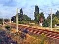 Schnellfahrstrecke Köln–Rhein-Main der DB- Abzweig Wiesbaden Hbf- bei km 7,0- Richtung SFS 26.8.2009.JPG