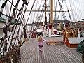 Schulschiff Deutschland mit Julia.JPG