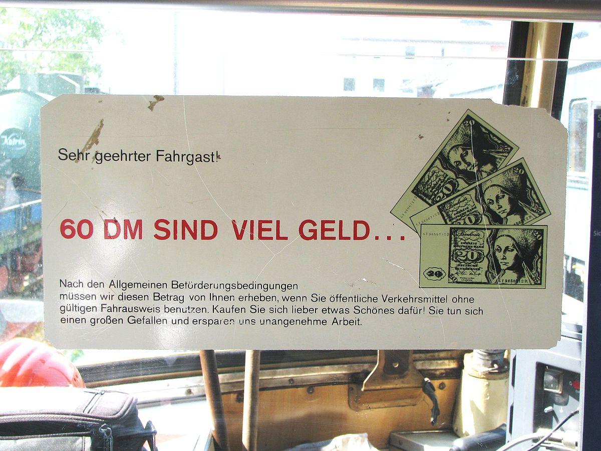 Beförderungserschleichung (Deutschland) – Wikipedia