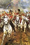 Cavalry charge, Battle of Waterloo