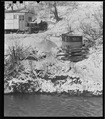 Scott's Run, West Virginia. Outdoor privy - Scene taken from the main highway. The stream is Scott's Run. This privy... - NARA - 518418.tif
