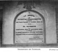 Scottish Women's Hospital - Mladanovatz - inscription on fountain (1915).png