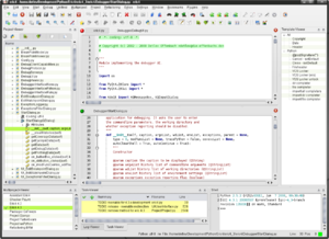 Screenshot of eric4 running in KDE SC 4