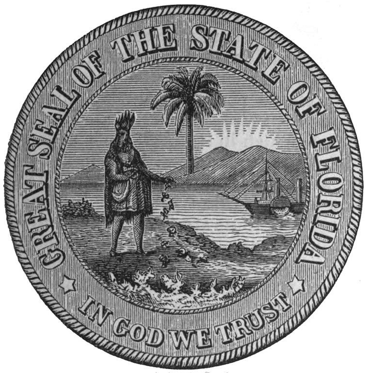 File Seal Of Florida 1868 1985 Jpg Wikimedia Commons