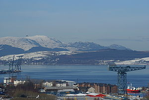 Seasonal view north west over Greenock