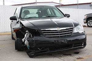 Chrysler Sebring involved in an auto accident