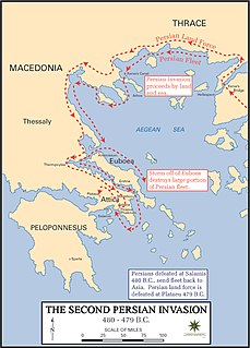 Second Persian invasion of Greece Invasion during the Greco-Persian Wars