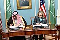Secretary Clinton and Prince Mohammed bin Naif bin Abdulaziz Participate in a Signing Ceremony (8386371525).jpg