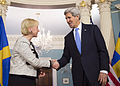 Secretary Kerry and Swedish Foreign Minister Wallstrom Shake Hands After Addressing Reporters.jpg