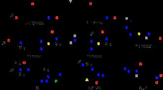 Metabotropic glutamate receptor 1 - Chemical structures of mGluR1 selective ligands.