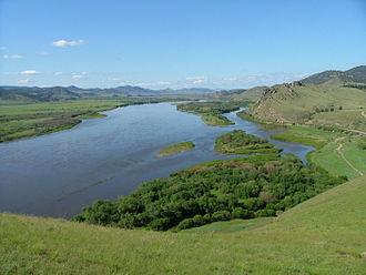 Selenga River - Selenga River in Russia