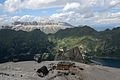 Sella Group and Fedaia Lake - Pian dei Fiacconi, Canazei, Trento, Italy - August 13, 2013 02.jpg