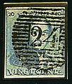 Selo postal, Bélgica, 1849.jpg