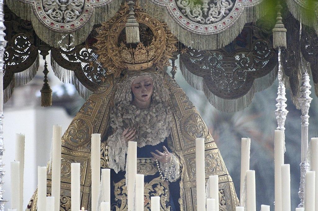 María Santísima de la Angustia. Semana Santa en Sevilla.