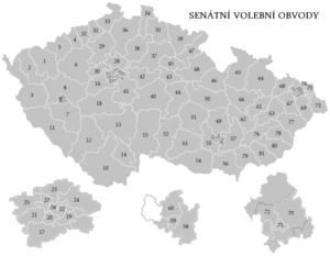 Czech Senate election, 2014 - Image: Senátní volební obvody