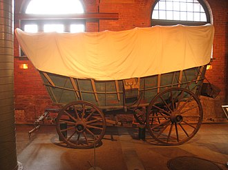 Wagon - A Conestoga wagon, a type of freight wagon used extensively in the United States and Canada in the 18th and 19th centuries for long-distance hauling