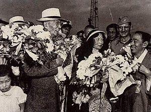 Soh Jaipil - Soh Jaipil and his daughter Muriel, Kim Kyu-sik, in Incheon(1947)