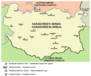 Serbia in 1813, during the First Serbian Uprising