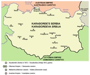 Revolutionary Serbia - Revolutionary Serbia in 1813.