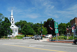 Sharon's town center in 2009