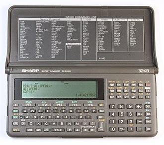 Pocket computer - Sharp PC-E500S pocket computer