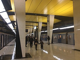 Shelepikha (Bolshaya Koltsevaya line) - Image: Shelepikha Moscow Metro Opening Day 01