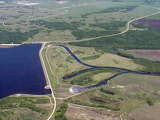 Asessippi Provincial Park - Shellmouth Dam in Asessippi Provincial Park.