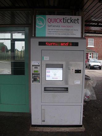 Shere FASTticket - The machine on the Up platform at Hassocks, installed by Southern on 16 June 2005.  Machine number is 4421.