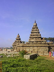 The Shore Temple at Mahabalipuram built by Narasimhavarman II