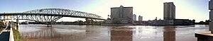 2015 Louisiana floods - The Red River. Shreveport, Louisiana