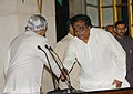 Shri M.H. Ambareesh, the new MoS, shaking hands with the President, Dr. A.P.J. Abdul Kalam after Swearing-in Ceremony at Rashtrapati Bhawan in New Delhi on October 24, 2006.jpg