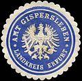 Siegelmarke Amt Gispersleben - Landkreis Erfurt W0253422.jpg