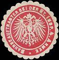 Siegelmarke Bahnbeauftragter bei der Etappen-Inspektion 4. Armee W0363871.jpg