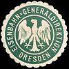 Siegelmarke Eisenbahn - Generaldirektion Dresden W0229493.jpg
