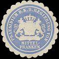 Siegelmarke Praesidium d. K. Bayer. Regierung von Mittelfranken W0363034.jpg