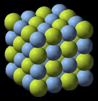 Silver(I) fluoride - Image: Silver(I) fluoride 3D ionic