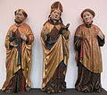 Simon lainberger (attr.), san pietro, un vescovo e un diacono, 1465, da st. michaeliskirche zu hof, norimberga.JPG