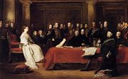 Sir David Wilkie - The First Council of Queen Victoria - WGA25757.jpg