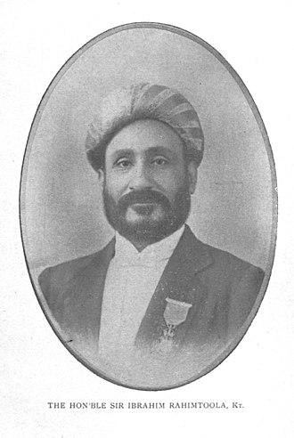 Ibrahim Rahimtoola - Image: Sir Ibrahim Rahimtoola