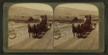 Six-horse tally-ho leaving mountain walled Gardiner for trip through Yellowstone Park, U.S.A, by Underwood & Underwood 3.png