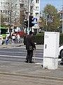 Skrzyżowanie ulic Królowej Jadwigi i Strzeleckiej przy AWF w Poznaniu - maj 2021.jpg