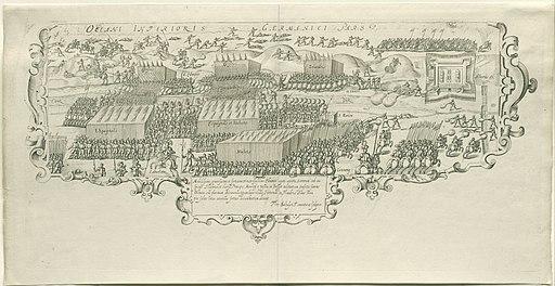 Slag bij de Leffingedijk tussen de Staatse troepen van Ernst Casimir van Nassau en de Spaanse van Albrecht van Oostenrijk, 1600, RP-P-OB-77.517