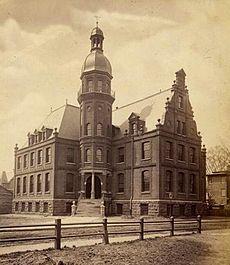 Yale University's old Sloane Physical Laboratory