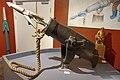 Slottsfjellsmuseet Museum Tønsberg Norway. Whaling harpoon cannon used by Svend Foyn in the 1870s Hvalkanon Vridd harpun Statue Ingebrigt Vik 2020-01-21 DSC02176.jpg