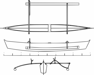 Pelang Large canoe from Indonesia