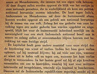 Our Struggle - Image: Soetan Sjahrir Onze Strijd Page B