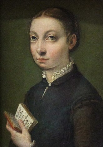 1554 in art - Self-portrait of Sofonisba Anguissola - 1554